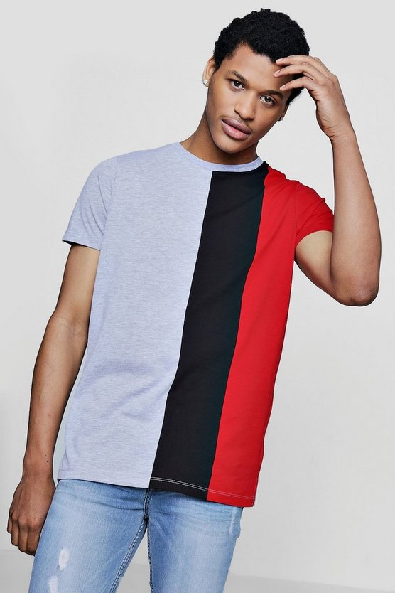 Three Panel Colour Block T-Shirt