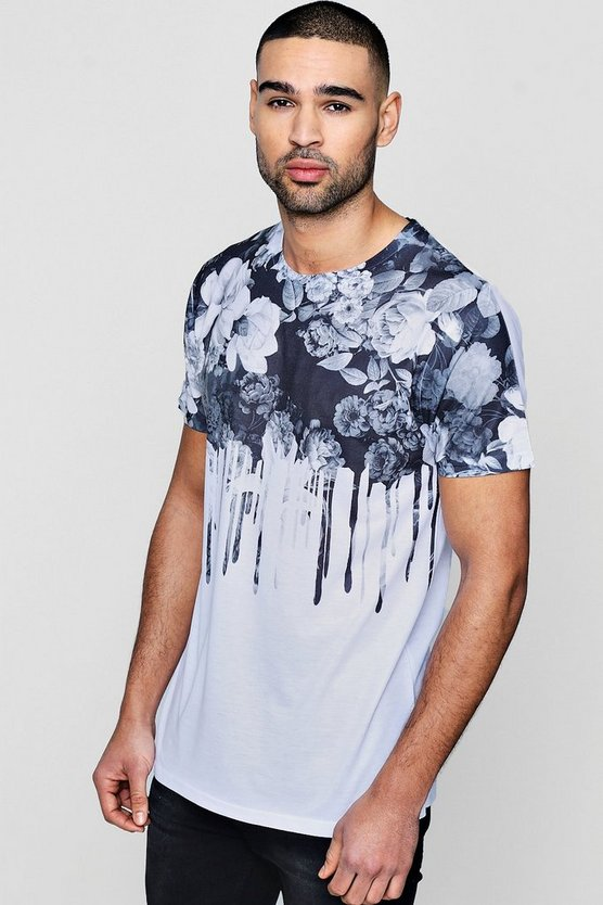 Floral Print Sublimation T-Shirt