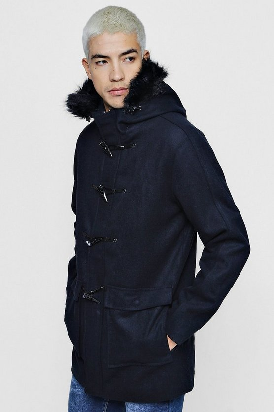 Wool Mix Duffle Parka