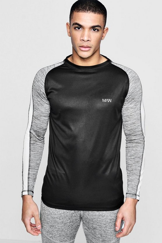 Active Long Sleeve Raglan Gym Top