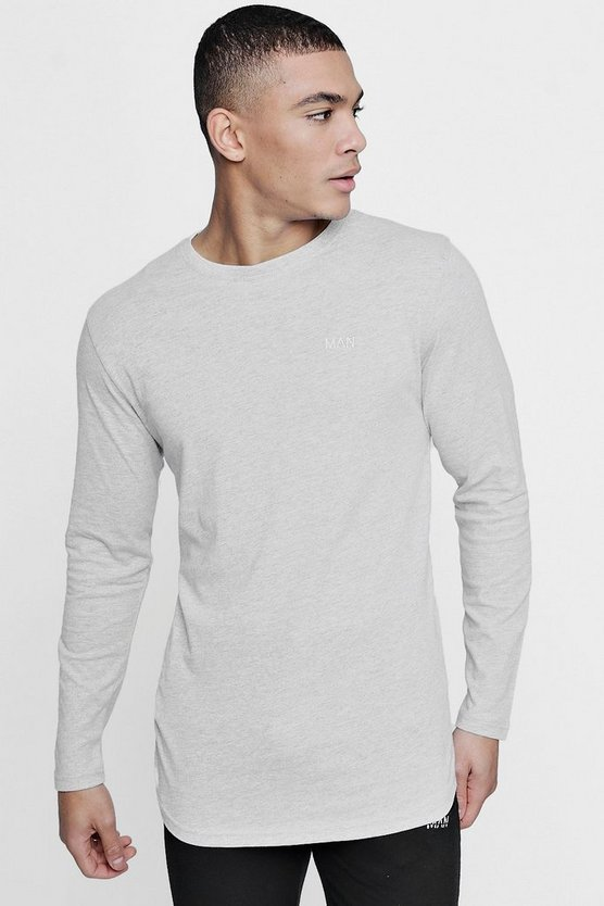 Long Sleeve Active Curve Hem Gym T-Shirt