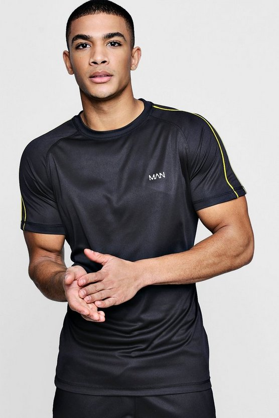 Active Gym T-Shirt With Piping