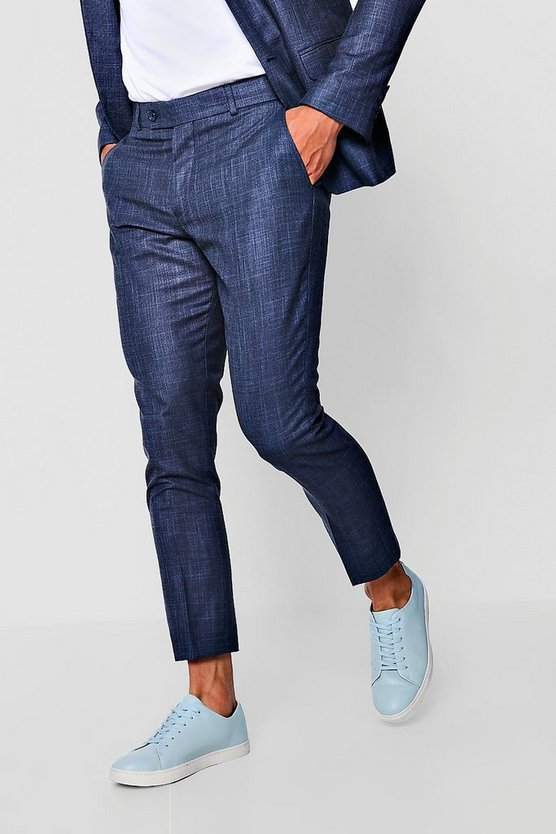 Textured Skinny Fit Suit Trouser