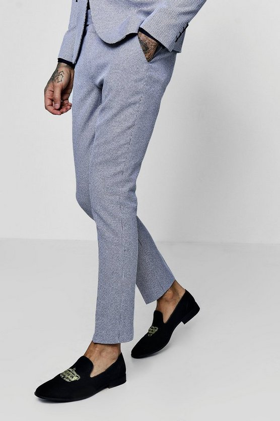 Mini Check Skinny Fit Suit Trouser