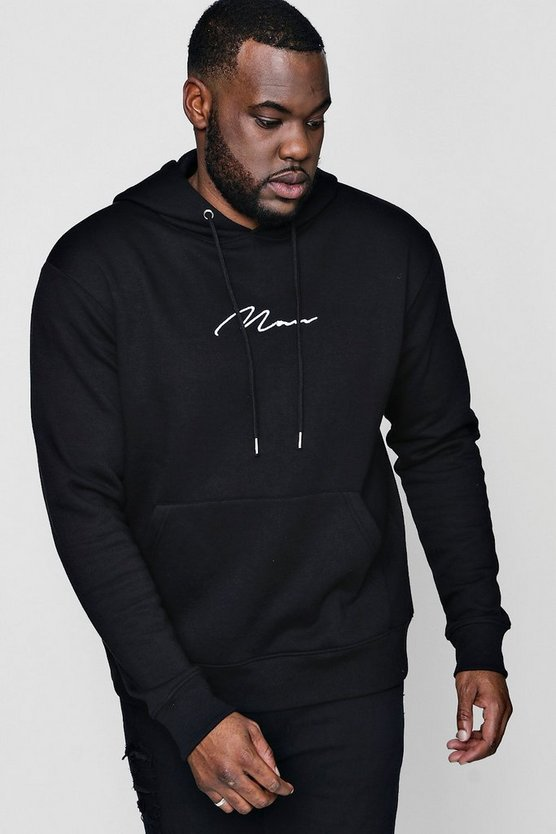 Big And Tall MAN Signature Hoodie