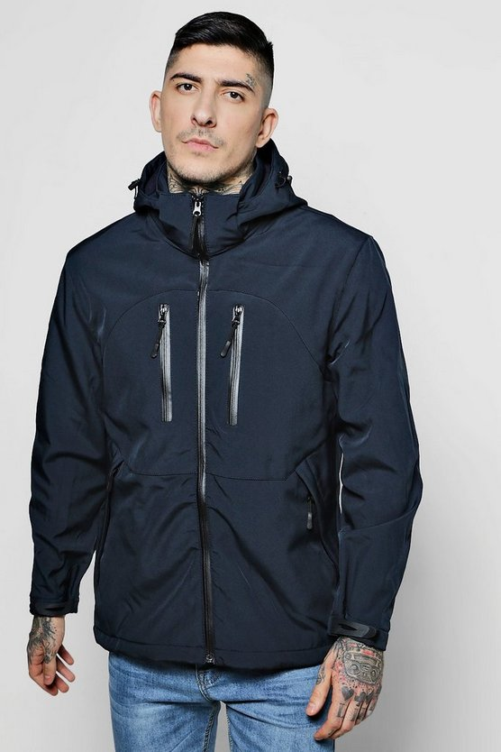Fleece Lined Cagoule With Hood