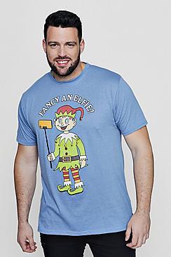 Big And Tall Fancy t-shirt Elfie