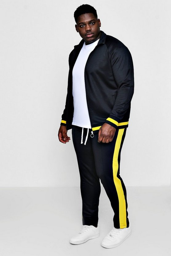 Big And Tall Skinny Fit Sports Tracksuit