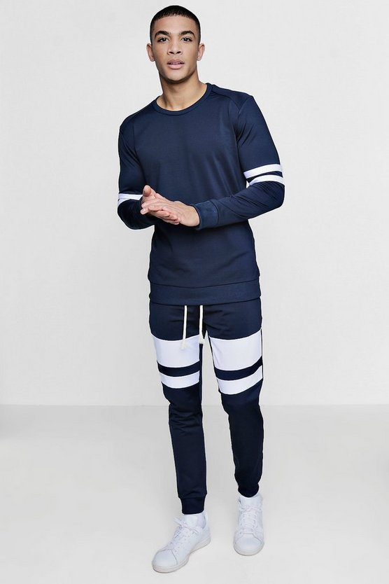 Panelled Tricot Tracksuit Sweater