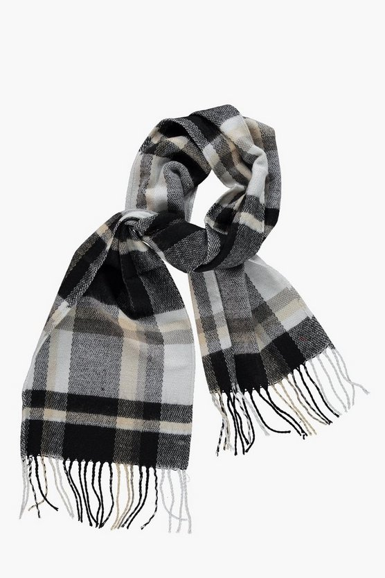 Smart Plaid Check Scarf