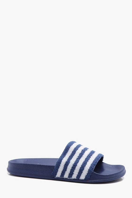 Stripe Towelling Slider