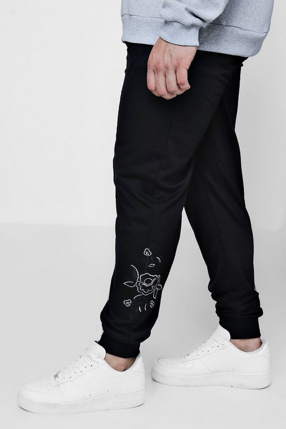 Big And Tall Rose Embroidered Jogger