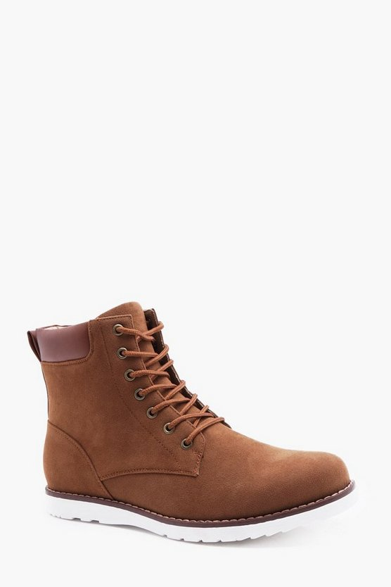 White Sole Worker Boot