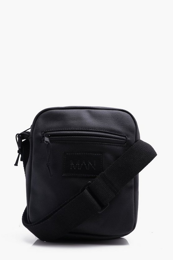 Waxed Canvas MAN Emboss Messenger