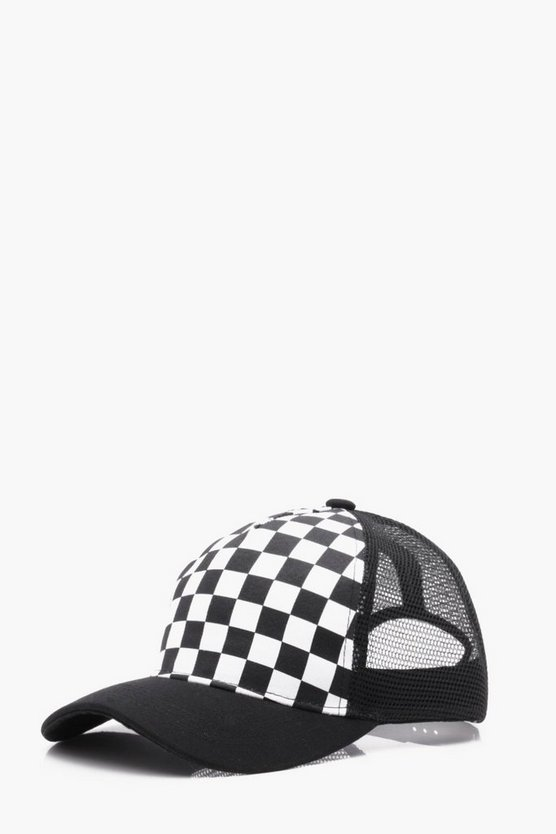 Checkerboard Trucker Cap