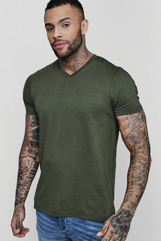 Basic V-Neck T Shirt