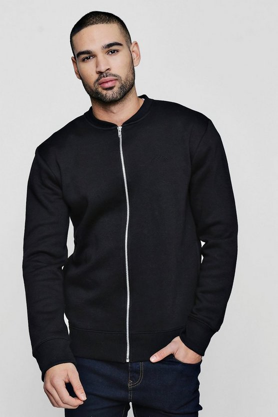 MAN Signature Embroidered Jersey Bomber