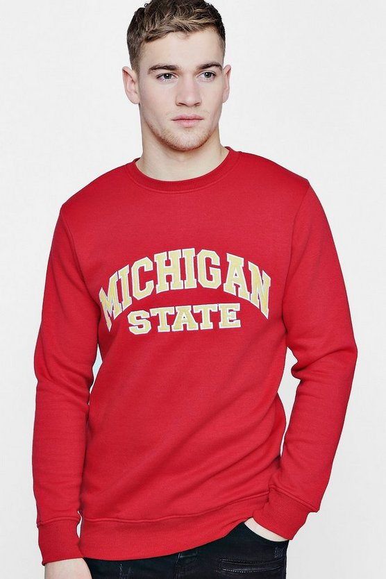 Michigan State Applique Sweater
