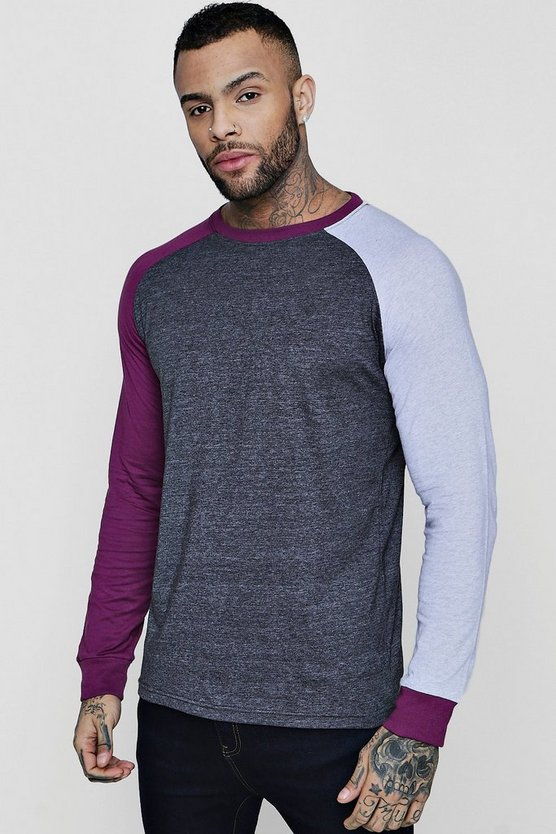 Colour Block Raglan T-Shirt