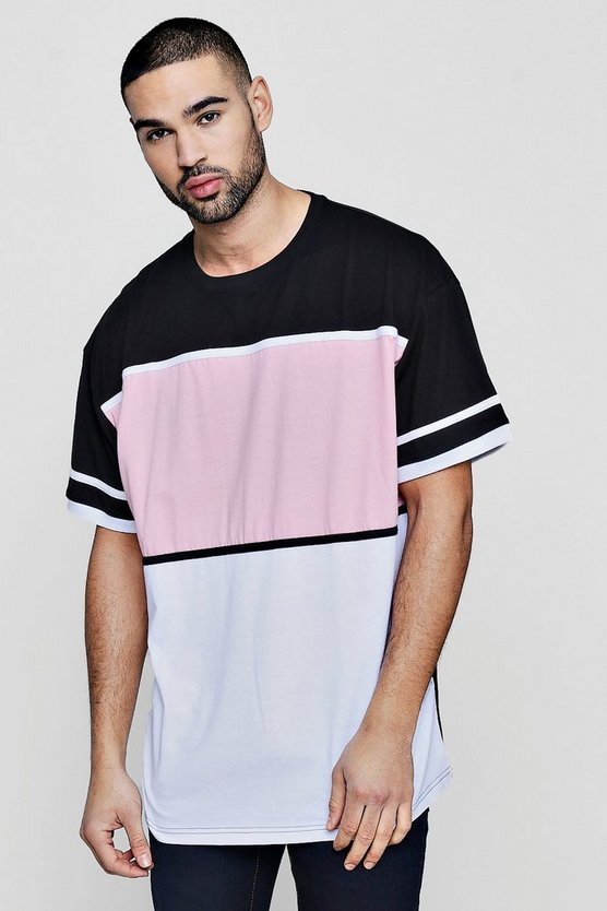Colour Block Oversized T-Shirt