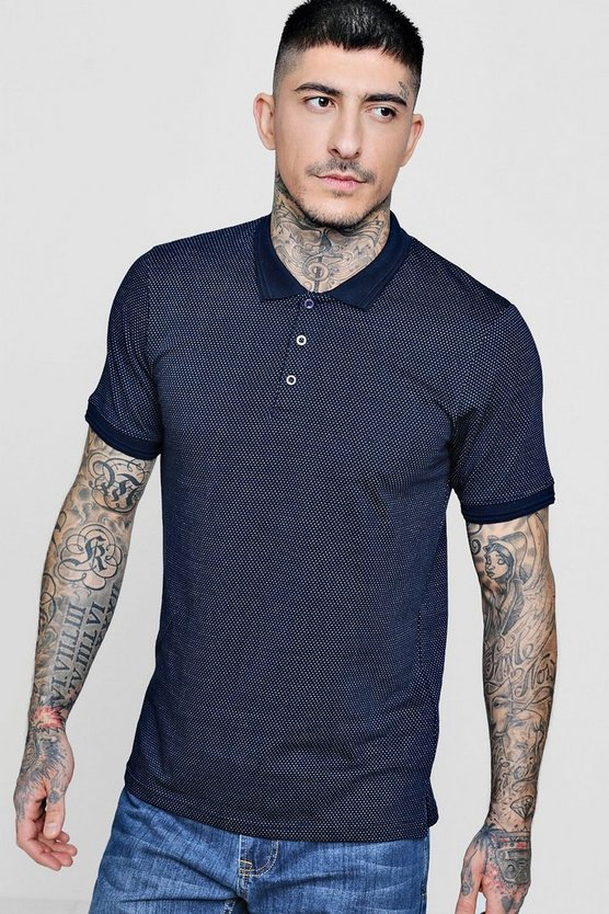 Jacquard Short Sleeve Polo