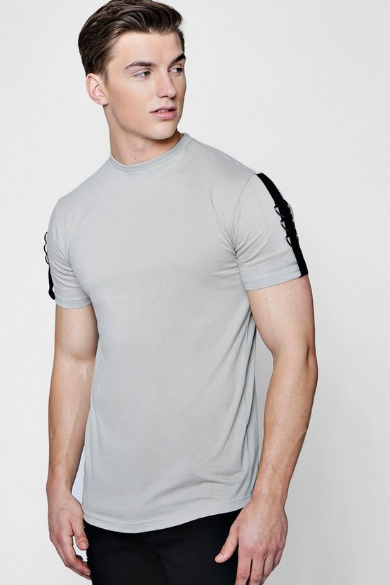 Drop Shoulder T-Shirt With Taping