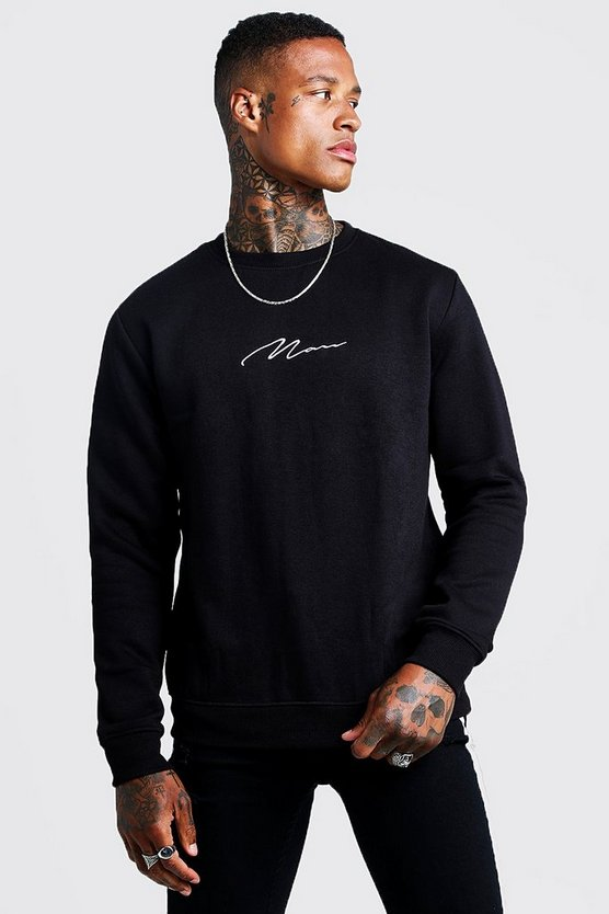 MAN Signature Embroidered Sweater
