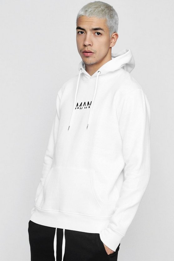 Original MAN Embroidered Hoodie