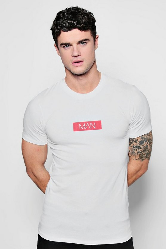 Muscle Fit MAN Red Box T-Shirt
