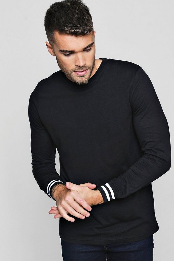 Long Sleeve T-Shirt With Sports Cuff