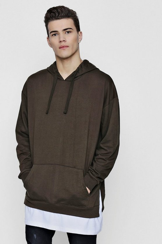 Oversized Hoodie With Faux Layer