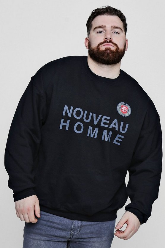 Big And Tall Oversized Nouveau Homme Sweater