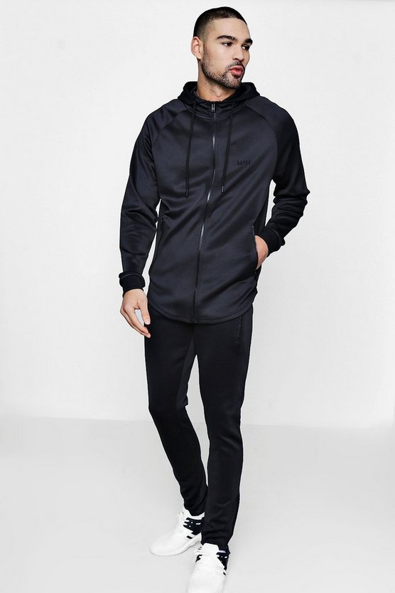 Skinny Fit MAN Tracksuit In Tricot
