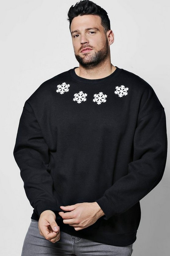 Big And Tall Christmas Snowflake Jumper