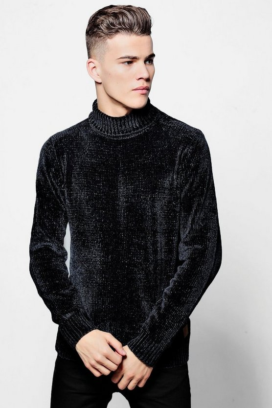 Chenille Roll Neck Jumper