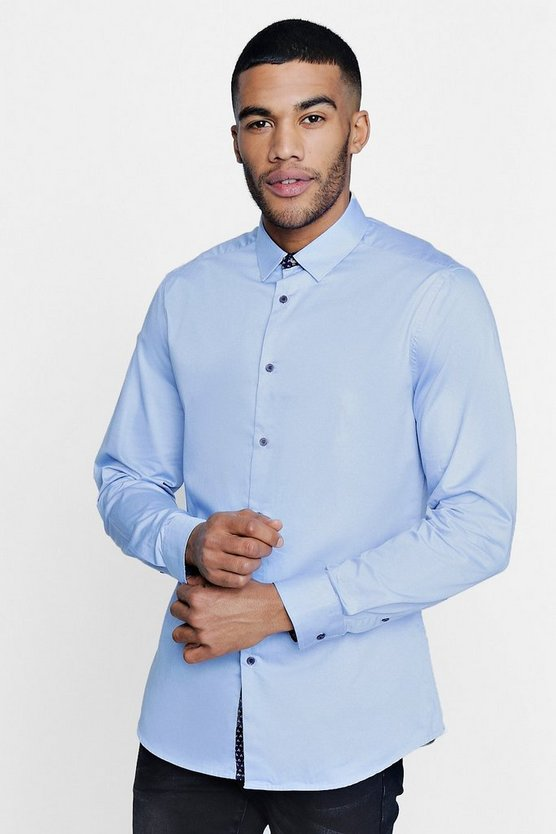 Smart Satin Slim Fit Shirt