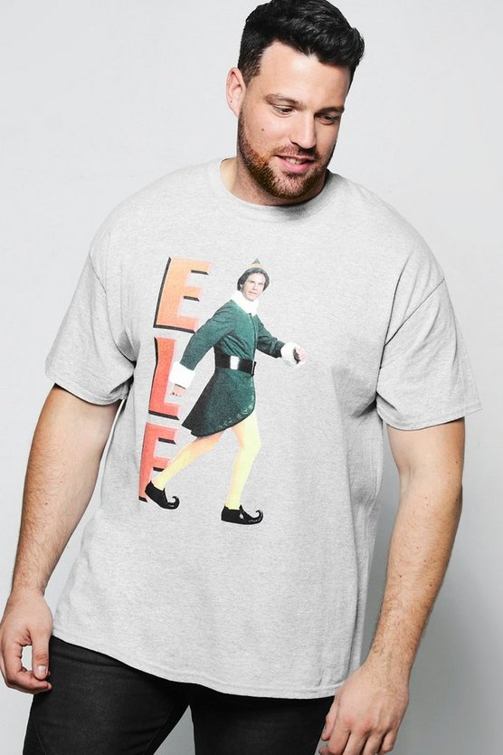 Big And Tall Elf License Print T Shirt