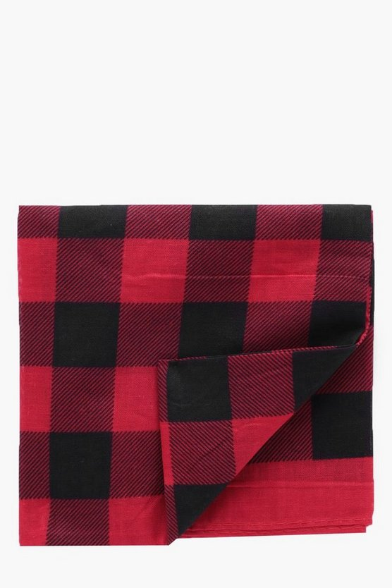 Red Check Bandana