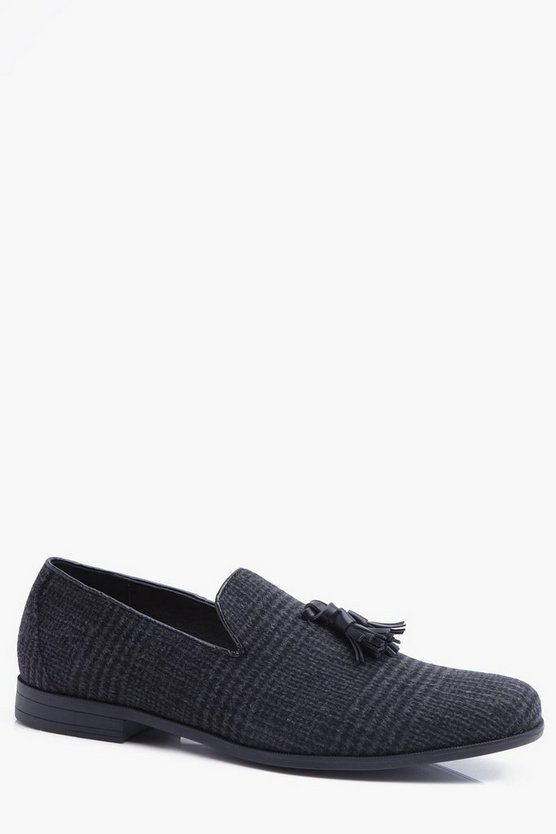 Checked Tassel Loafer