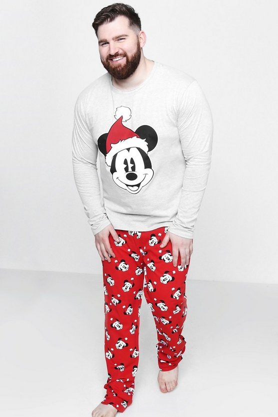 Big And Tall Disney Mickey Christmas Pyjamas