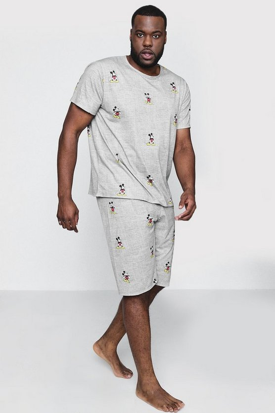 Big And Tall Disney Mickey Mouse Pyjama Set