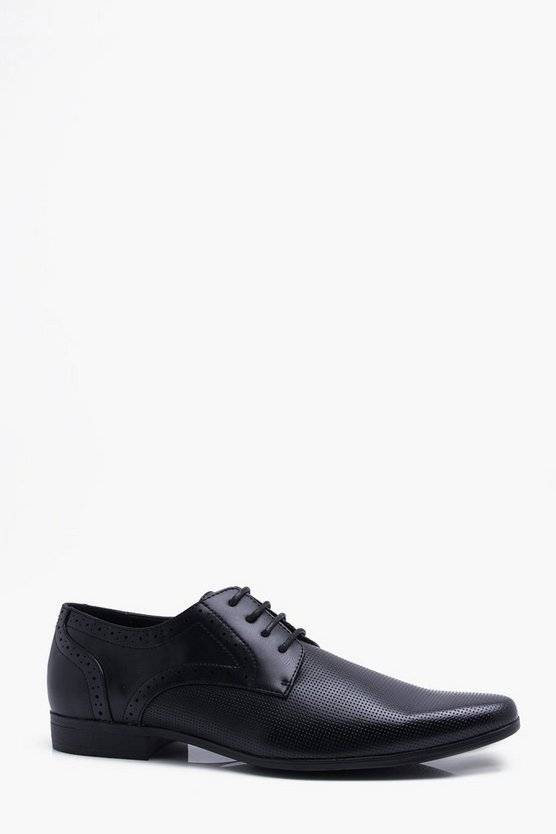 Punched Vamp Brogue Detail Smart Shoe