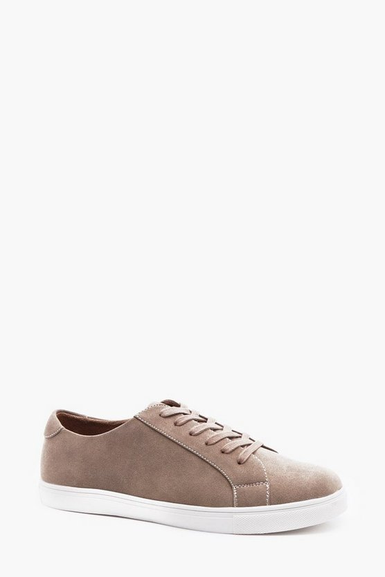 Leather Look Trainer