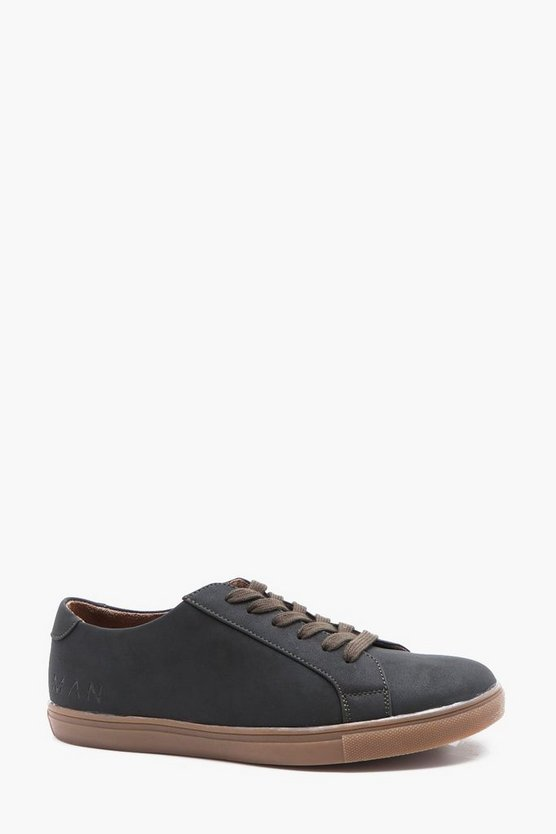 Leather Look Smart Trainer