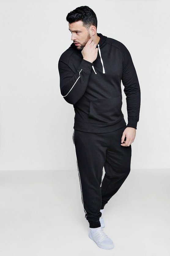 Big And Tall Skinny Fit Hooded Tracksuit