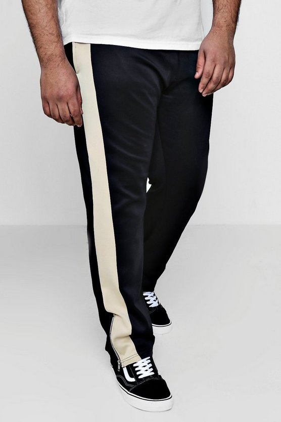 Big And Tall Side Panel Detail Joggers