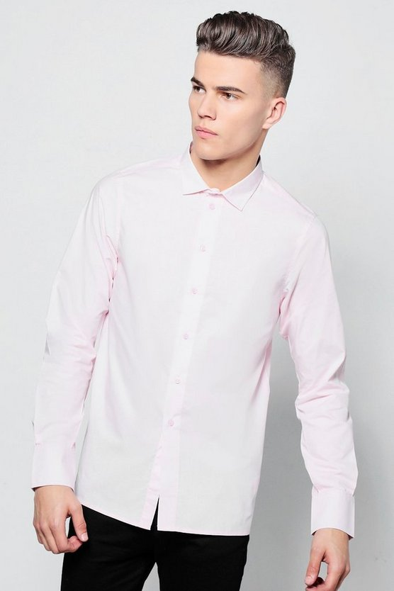 Slim Fit Long Sleeve Smart Shirt