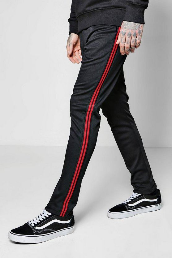 Skinny Fit Jogger With Sport Stripe Panel