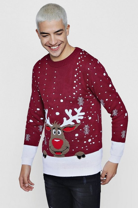 Reindeer Novelty Christmas Jumper
