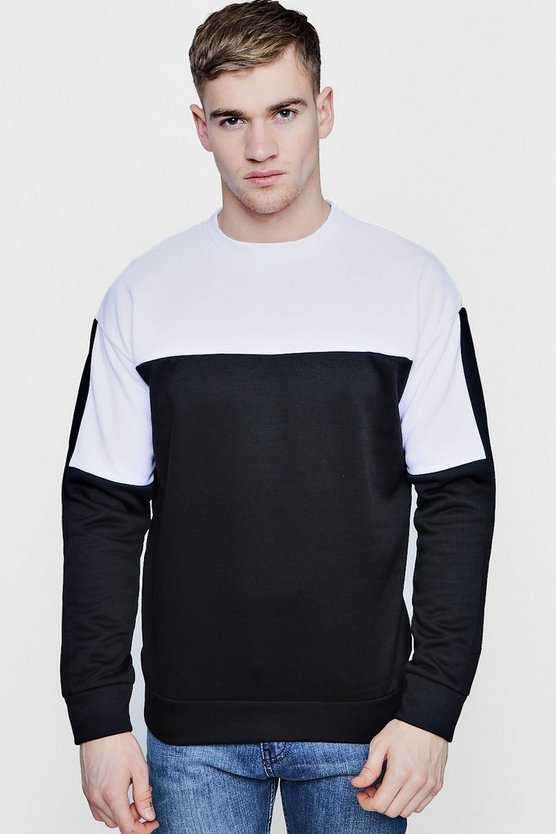 Crew Neck Sweat With Contrast Yoke